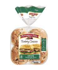 Pepperidge Farm® Onion Hamburger Buns with Poppy Seeds, split