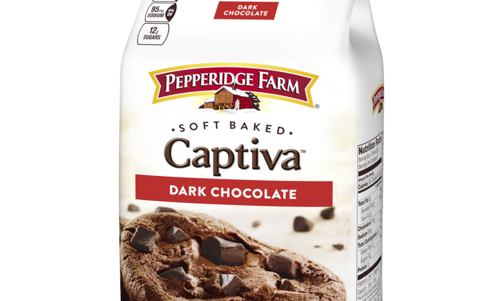 Pepperidge Farm Soft Baked Captiva Dark Chocolate Brownie Cookies